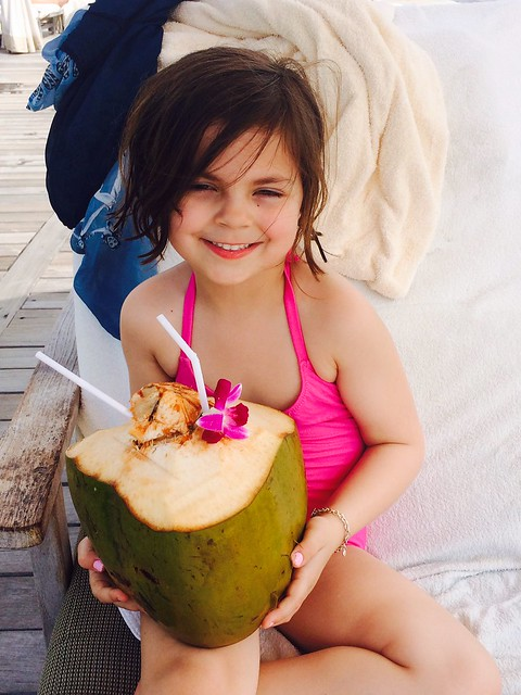 coco drinking coconut water