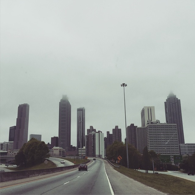 Foggy Atlanta Skyline