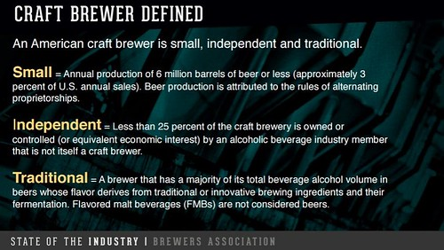 Definition of Craft Brewery 2015 (Brewers Association)