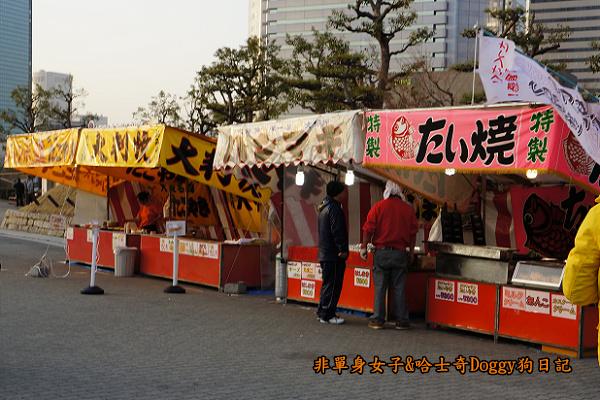 日本大阪城公園梅林城天守閣3D光之陣02