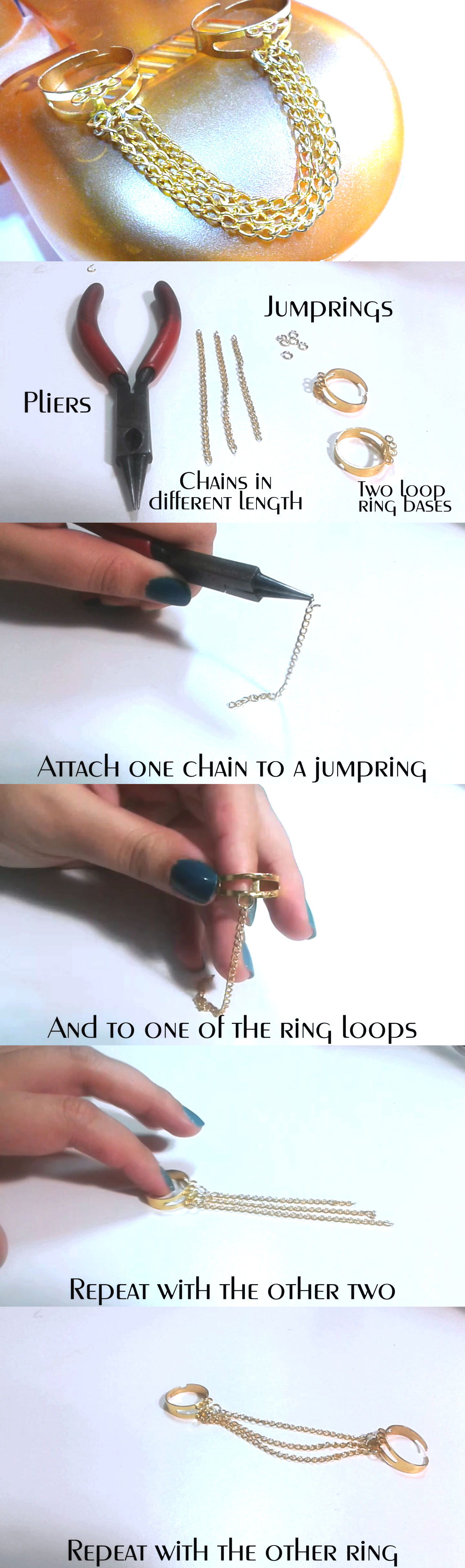 diy chain rings