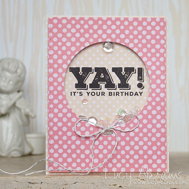 Yay Shaker Card by Lucy Abrams