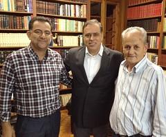 18 05 2015 Bom Jesus do Galho - Prefeito Jadir Silva, Deputado Paulo Abi-Ackel e o ass da pref Lelé