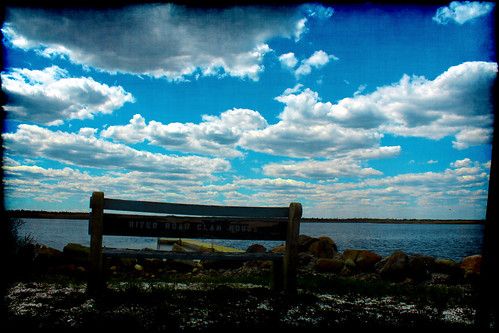 life blue fish nature water clouds river bench photography boat dock view rest mullica groovyal