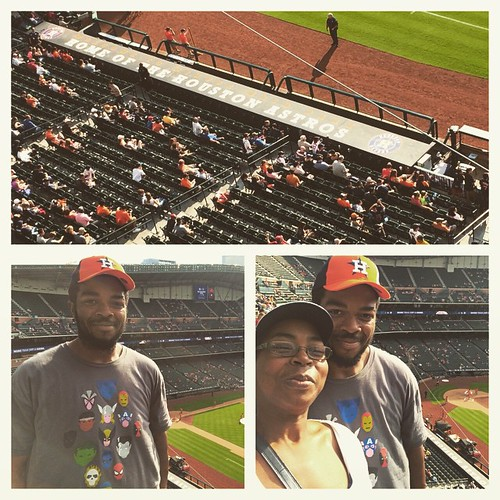Treating @fueledxrunning to his first #mlb game. #Astros are going to light up the Mariners tonight. #happywife #funtimes #baseball #mlbastros