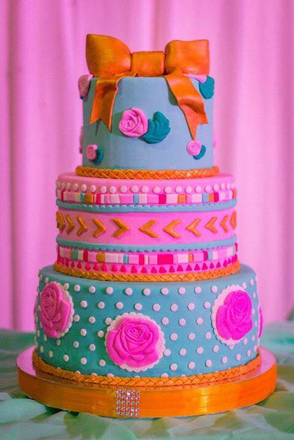 Boho- Chic Cake by Kate Bueno Chua Go of CupKate's