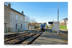 Le Rouget. Train from Figeac to Aurillac. 5.4.11