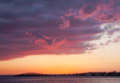 Sunset, Bristol, Rhode Island by Peter Rintels, via I {heart} Rhody