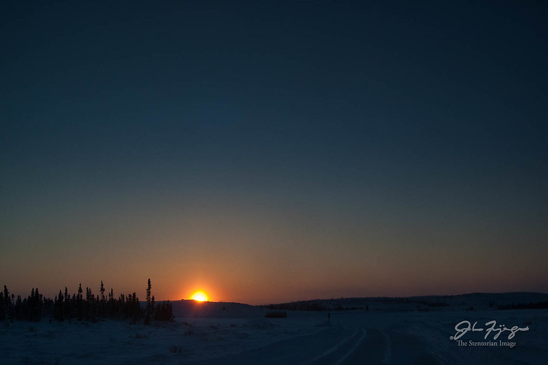 Ice Road Sunset