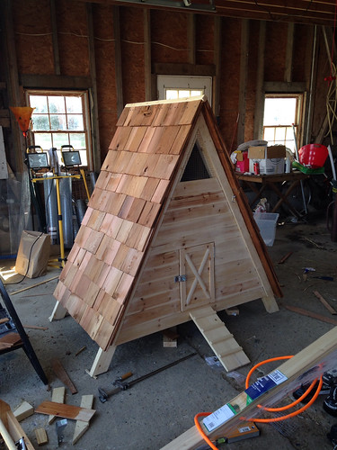 how to build an a frame coop or duck house diydiva