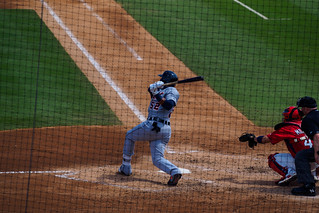 Yoenis Cespedes Drives the Ball for a Double