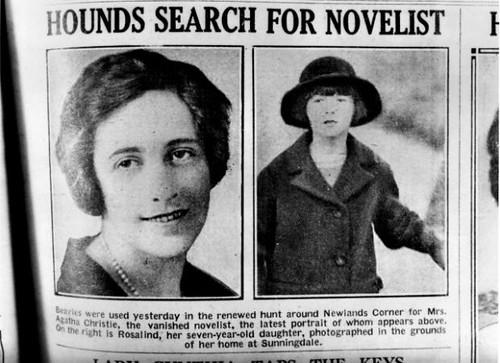 Prensa recogiendo la desaparición de Agatha Christie
