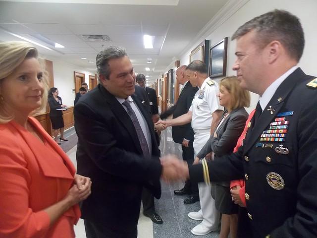 Συνάντηση ΥΕΘΑ Πάνου Καμμένου με την Υφυπουργό Άμυνας των ΗΠΑ Christine Wormuth