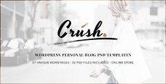 Crush - WordPress Personal Blog PSD Templates (Per…