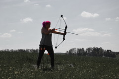 trap shooting(0.0), wind(0.0), individual sports(1.0), sports(1.0), recreation(1.0), outdoor recreation(1.0), bow and arrow(1.0),