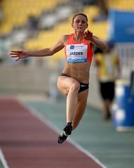 middle-distance running(0.0), sprint(0.0), modern pentathlon(0.0), 110 metres hurdles(0.0), 100 metres hurdles(0.0), 4 㗠100 metres relay(0.0), 800 metres(0.0), athletics(1.0), track and field athletics(1.0), jumping(1.0), triple jump(1.0), sports(1.0), heptathlon(1.0), athlete(1.0),