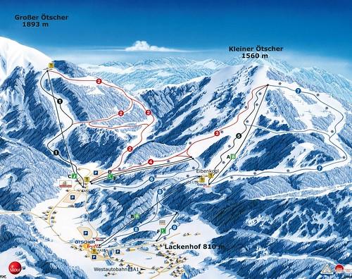 Ötscher - mapa sjezdovek