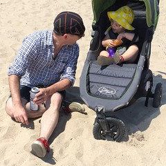 Life's a beach (with Russian egg pastries) #violetavery #18months #brightonbeach