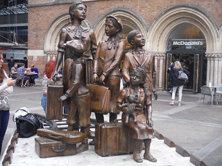 Kindertransport Memorial, Liverpool Street Station, Liverpool Street Exit: Start to the Walk