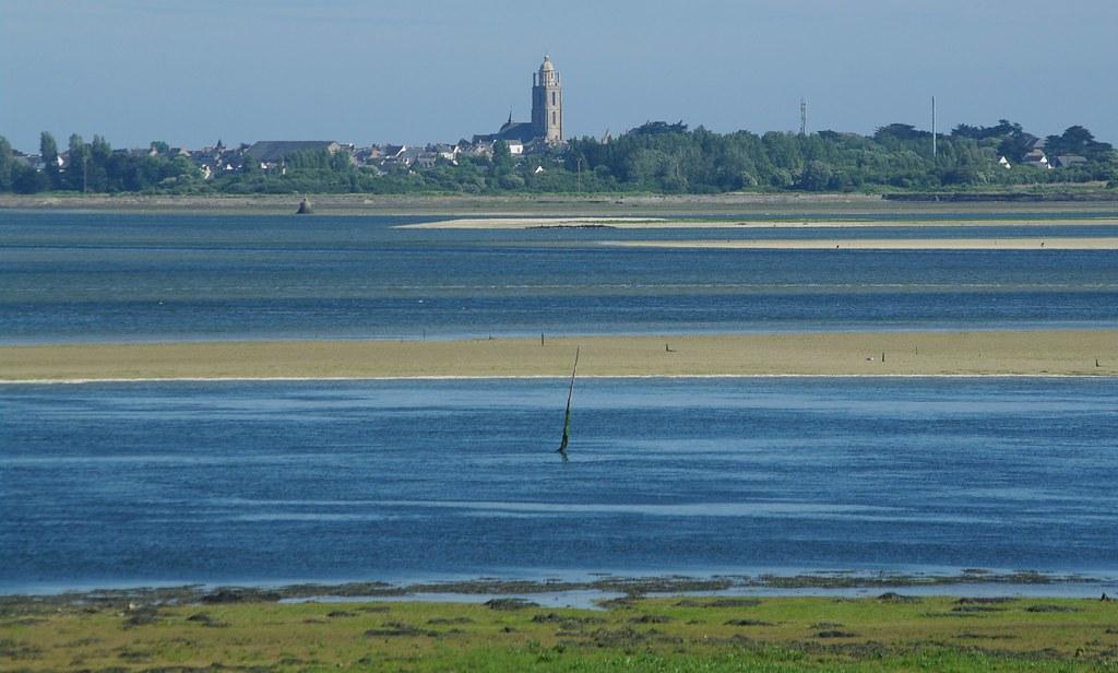 Presqu'île de Guérande: entre Pen Bron et Batz sur mer au moment où la mer monte.
