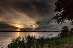 Living on the Mekong River is an almost never ending stream of entertainment and beautiful sunsets. This is the highest we have seen the river since we moved here. I understand that it is beginning on flood in parts, but there is almost another two meters
