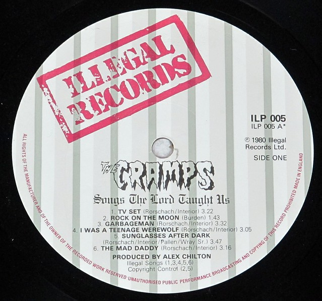"CRAMPS SONGS THE LORDS TAUGHT US ILLEGAL ILP 005 12"" LP VINYL"