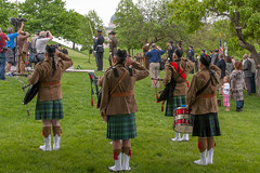 people, kilt, hand drum,