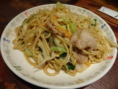 Fried Noodle and Gyoza @Osaka Ohsho, FUkushima, Os…