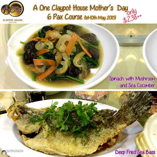 AOne Claypot Mothers Day Menu 6 pax