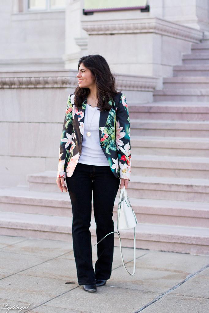floral blazer, flared jeans, white satchel-3.jpg