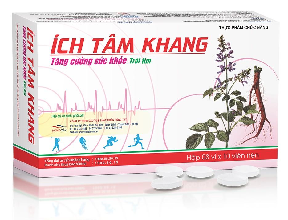 TPCN Ích Tâm Khang giải pháp từ thiên nhiên hỗ trợ điều trị và phòng ngừa suy tim