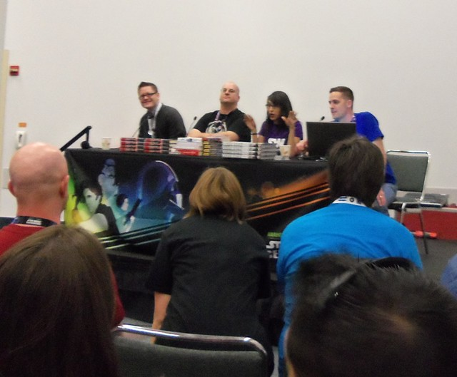Star Wars Bookworms Panel: Dan Wallace, Drew Karpyshyn, Teresa Delgado and Aaron Goins