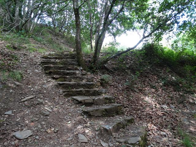 Escaleras en la Fervenza de As Hortas en Arzúa