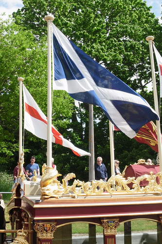 Saltire on Gloriana