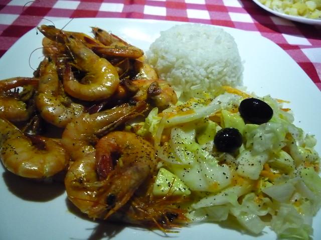 Fresh Shrimp Meal in Sapzurro