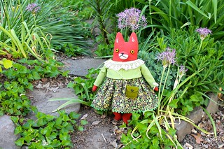 fox girl in the garden
