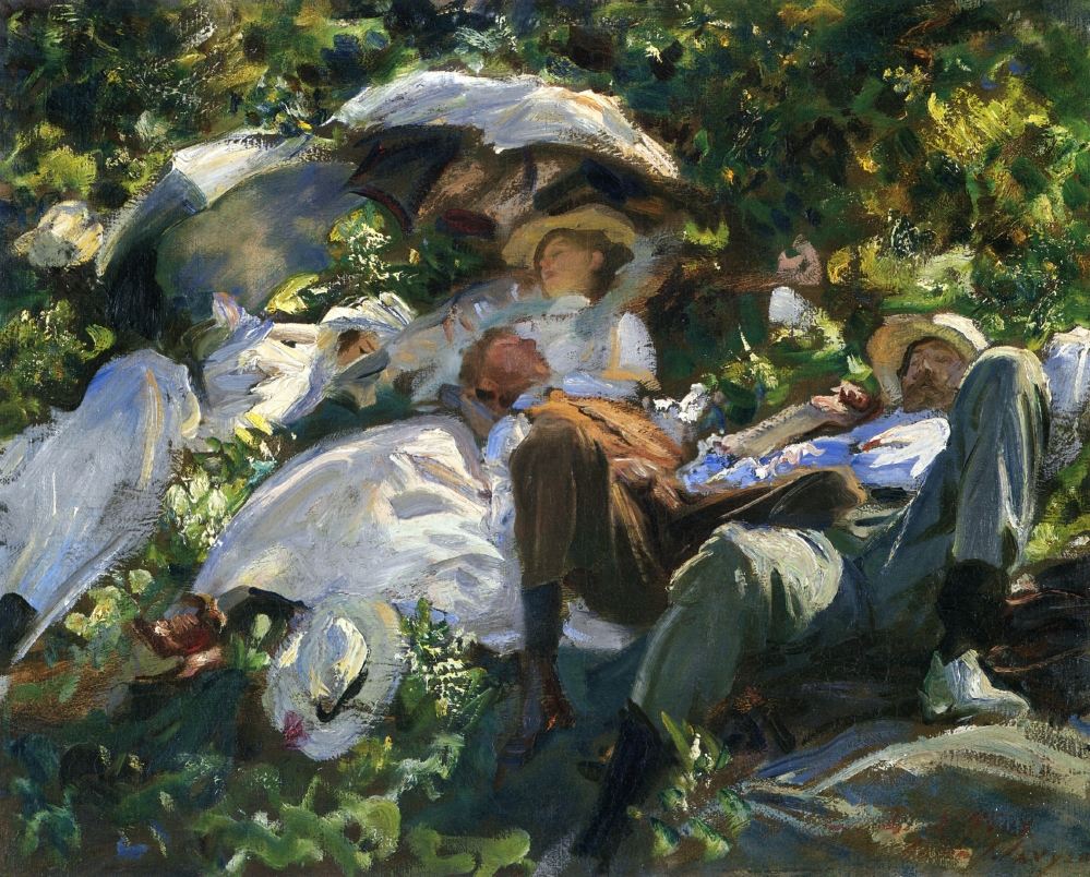 Group with Parasols by John Singer Sargent, 1905