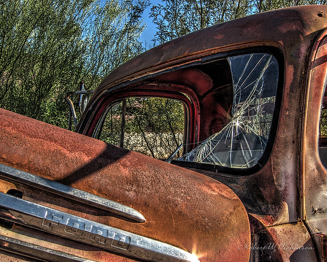 Rusty & Crunchy at Goldfield Ghost Town in Apache Junction, Arizona in HDR