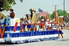 Cheerleaders on Float, 1996 Arlington July 4 Parade