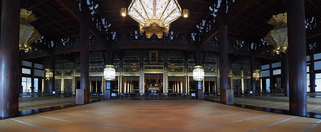 西本願寺-御影堂的室內