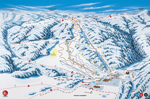Valčianska dolina - Snowland - mapa sjezdovek