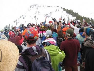 Alta season-ending party