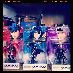 Fire Emblem Amiibos #amiibo #nintendo #ike #robin #lucina #fireemblem #supersmashbros. #smash