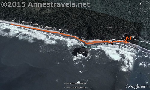 Visual trail map of Ruby Beach, Olympic National Park, Washington