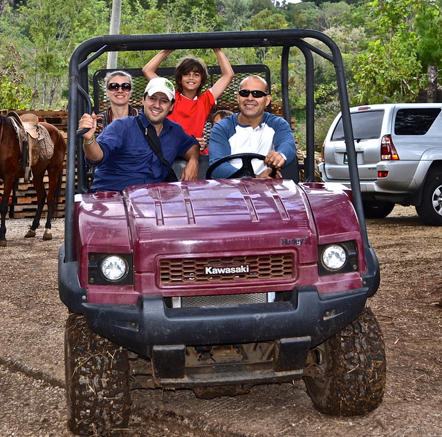 Jeep pick up - Green Rush Nature Park, Guatemala