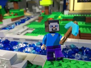 Woodrow Village Minecraft: Steve's new pick axe