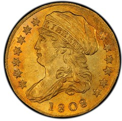 1808 Capped Bust Left Quarter Eagle obverse