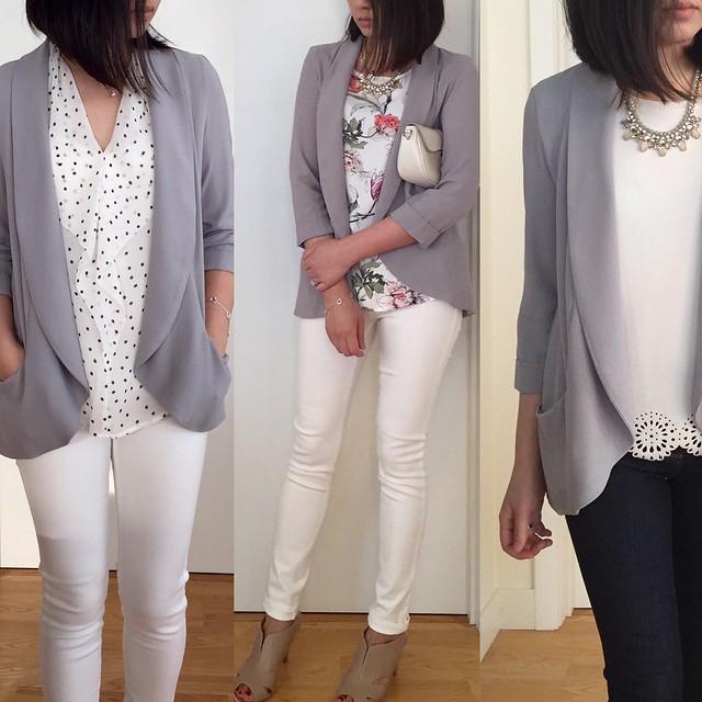 Forever 21 Open-Front Crepe Blazer Styled 3 Ways