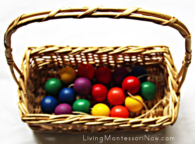 Rainbow Color Necklace Bead Basket