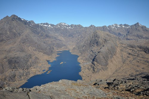 Loch Coruisk, Druim nan Ramh right of centre